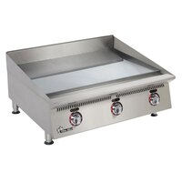 Star 860TSCHSA Ultra Max 60 inch Countertop Gas Griddle with Snap Action Thermostatic Controls and Chrome Plate - 200,000 BTU