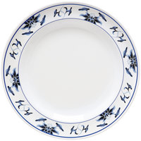 GET KT-415-B Water Lily 12 inch Melamine Plate - 12/Pack