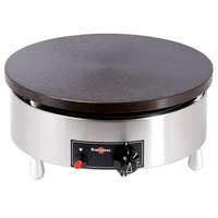 Krampouz CGBIP4 15 3/4 inch Round Natural Gas Cast Iron Crepe Maker - 24,000 BTU