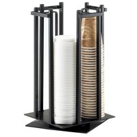 Cal-Mil 1133-13 Black One By One Revolving Cup / Lid Organizer - 10 inch x 10 inch x 15 3/4 inch