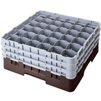 Cambro 36S1214167 Brown Camrack 36 Compartment 12 5/8 inch Glass Rack