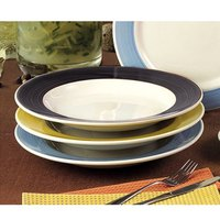 CAC R-125BLK Rainbow Pasta Bowl 30 oz. - Black - 12/Case