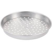 American Metalcraft PHA5016 16 inch x 2 inch Perforated Heavy Weight Aluminum Straight Sided Pizza Pan