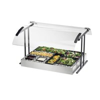 Cal Mil 2027-4-13 Black Double Face Tabletop Sneeze Guard – 49 1/4 inch x 27 1/4 inch x 21 1/2 inch