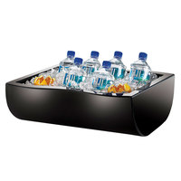 Cal-Mil 1256-13 Black Acrylic Insulated Ice Housing - 20 inch x 15 inch x 6 1/2 inch