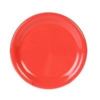5 1/2 inch Orange Wide Rim Melamine Plate - 12/Pack