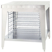 Alto-Shaam 5003787 Stationary Stand with Cooling Racks and Seismic Feet for ASC-4E and ASC-4G Convection Ovens - 35 1/2 inch
