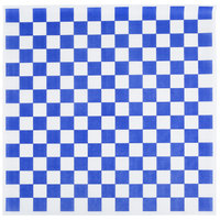Choice 15 inch x 15 inch Blue Check Deli Sandwich Wrap Paper - 4000 / Case