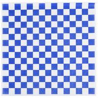 Choice 15 inch x 15 inch Blue Check Deli Sandwich Wrap Paper - 4000/Case