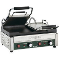 Waring WFG300 17 inch x 9 1/4 inch Tostato Ottimo Smooth Top & Bottom Dual Panini Sandwich Grill 240V