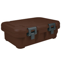 Cambro UPCS140131 Dark Brown S-Series Ultra Food Pan Carrier Insulated Top Loading Deep