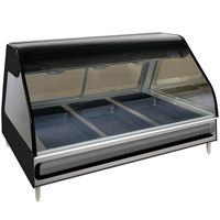 Alto-Shaam ED2-48 BK Black Heated Display Case with Curved Glass - Full Service 48 inch