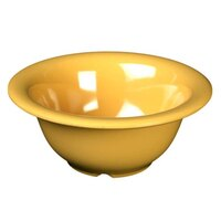 Yellow 10 oz. Melamine Soup Bowl - 12 / Pack with 5 3/8 inch Diameter