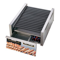 Star Grill Max 50SCBDE 50 Hot Dog Roller Grill with Bun Drawer, Electronic Controls and Duratec Non-Stick Rollers