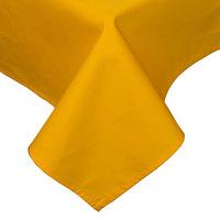 45 inch x 120 inch Gold Hemmed Polyspun Cloth Table Cover