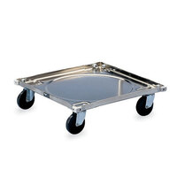Vollrath 97190 Steel Rack Dolly (No Handle) - 20 1/2 inch x 20 1/2 inch x 5 7/8 inch