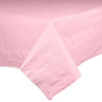 Hoffmaster 220627 54 inch x 108 inch Cellutex Pink Tissue / Poly Paper Table Cover - 25/Case