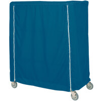 Metro 24X48X62VUCMB Mariner Blue Uncoated Nylon Shelf Cart and Truck Cover with Velcro® Closure 24 inch x 48 inch x 62 inch