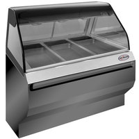 Alto-Shaam ED2SYS-48/P SS Stainless Steel Heated Display Case with Curved Glass and Base - Self Service 48 inch