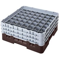 Cambro 49S800167 Brown Camrack 49 Compartment 8 1/2 inch Glass Rack