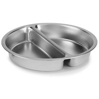 Vollrath 49334 2.5 Qt. Stainless Steel 2-Compartment Round Food Pan