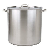 100 Qt. Heavy-Duty Stainless Steel Stock Pot with Cover