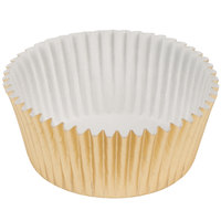 Ateco 6421 1 3/4 inch x 1 inch Gold Baking Cups (August Thomsen) - 200/Box