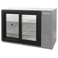 Beverage Air BB48GSY-1-S-PT 48 inch SS Pass-Through Back Bar Refrigerator with Sliding Glass Doors - 115V