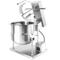 Cleveland MKDT-12-T 12 Gallon Tilting 2/3 Steam Jacketed Direct Steam Tabletop Mixer Kettle