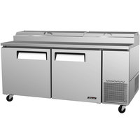 Turbo Air TPR-67SD 67 inch Two Door Pizza Prep Table