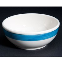 CAC R-18-BLU Rainbow Nappie Bowl 15 oz. - Blue - 36/Case