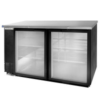 Beverage Air BB58GY-1-BK-WINE 58 inch Black Back Bar Wine Series Refrigerator - 2 Glass Doors