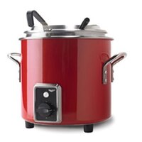 Vollrath 7217255 Red Finish Retro 11 qt. Stock Pot Kettle Rethermalizer - 1450W