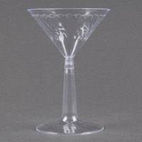 Fineline Flairware 2306 6 oz. Plastic Martini with Clear Base - 2 Piece 144 / Case