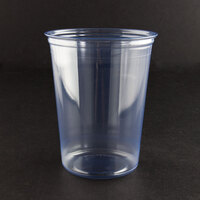 Fabri-Kal Alur RD32 32 oz. Customizable Clear PET Plastic Round Deli Container 500 / Case