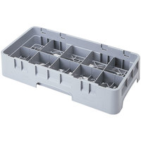 Cambro 10HC258151 Soft Gray 10 Compartment Half Size 2 5/8 inch Camrack Cup Rack