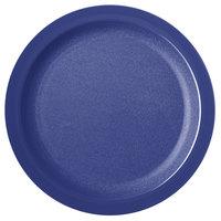 Carlisle PCD21050 Blue 10 inch Polycarbonate Narrow Rim Plate - 48/Case