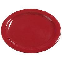 Carlisle 4385005 Red Dayton 10 1/4 inch Melamine Dinner Plate - 48 / Case