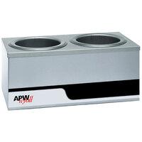 APW Wyott W4-2 Dual 4 Qt. Countertop Warmer