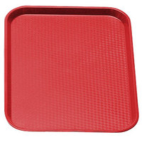 Cambro 1014FF163 Red 10 inch x 14 inch Customizable Fast Food Tray 24/Case