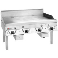 Garland CG-48R-01 48 inch Master Series Liquid Propane Production Griddle with Thermostatic Controls - 120,000 BTU