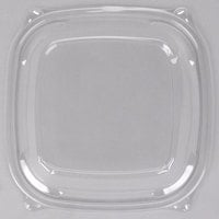 Dart Solo C2464BDL PresentaBowls Pro Clear Square Lid for 24, 32, 48, and 64 oz. Square Plastic Bowls - 252/Case