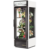 True GEM-23FC-LD White Glass End Floral Case - 23 Cu. Ft.