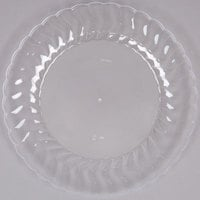 Fineline Flairware 209-CL 9 inch Clear Plastic Plate - 180 / Case