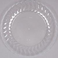 "Fineline Flairware 209-CL 9"" Clear Plastic Plate - 180/Case"