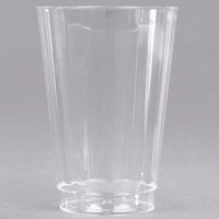 WNA Comet CC14240 Classicware 14 oz. Tall Clear Plastic Fluted Tumbler - 20/Pack