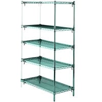 Metro 5AA447K3 Stationary Super Erecta Adjustable 2 Series Metroseal 3 Wire Shelving Add On Unit - 21 inch x 42 inch x 74 inch