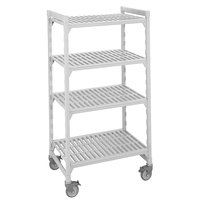 Cambro Camshelving Premium CPMU243675V4480 Mobile Shelving Unit with Premium Locking Casters 24 inch x 36 inch x 75 inch - 4 Shelf