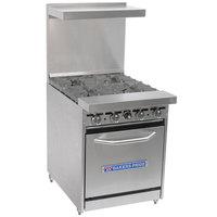 Bakers Pride Restaurant Series 24-BP-4B-S20 Natural Gas 4 Burner Range with Standard 20 inch Oven