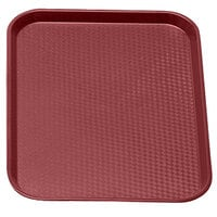 Cranberry Cambro 1216FF416 12 inch x 16 inch Customizable Fast Food Tray 24/Case